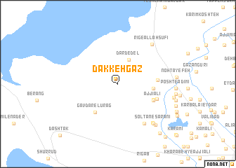 map of Dakkeh Gaz