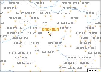 map of Dakkoun