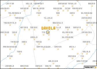 dakola burkina faso map