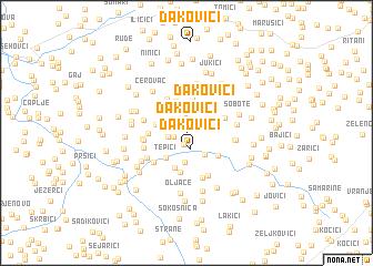map of Ðakovići