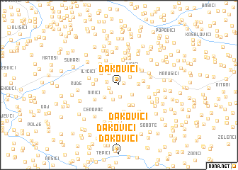 map of Ðakovići
