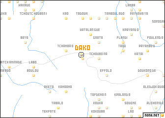 map of Dako