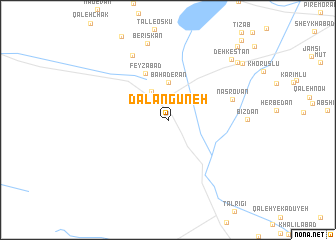 map of Dalangūneh