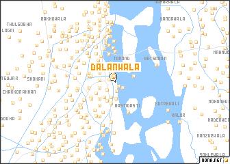 map of Dalanwāla