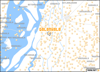 map of Dalanwāla