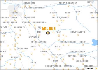 map of Dalbūs