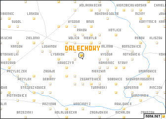map of Dalechowy