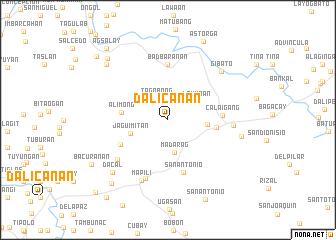 map of Dalicanan