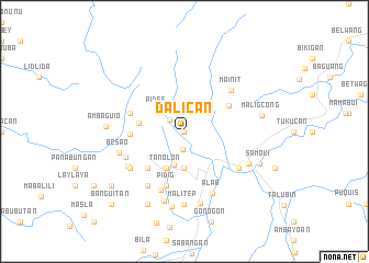 map of Dalican