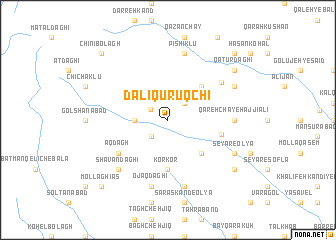 map of Dalī Qūrūqchī