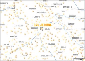 map of Daljevina