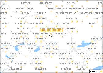 map of Dalkendorf
