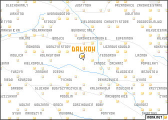map of Dalków