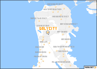 map of Daly City
