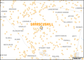 map of Damascus Hill