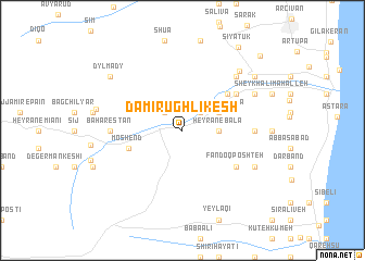 map of Damīr Ūghlīkesh