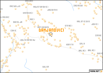 map of Damjanovići