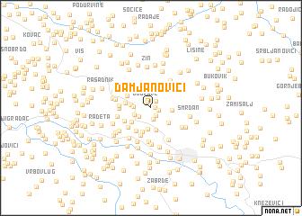 map of Damjanovići