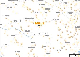 map of Damje