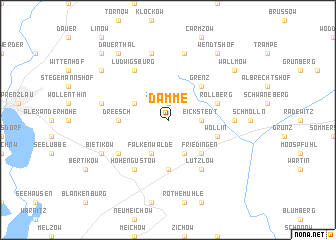 map of Damme