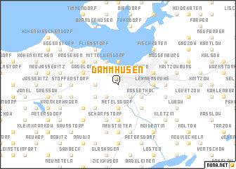map of Dammhusen