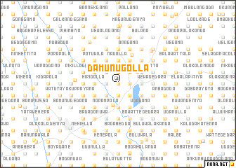 map of Damunugolla