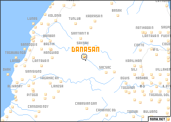map of Danasan