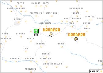 map of Dandera