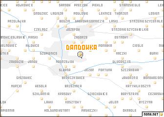 map of Dańdówka