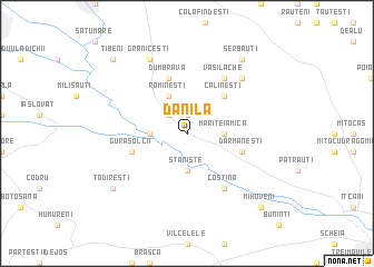 map of Dănila