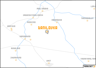 map of Danilovka