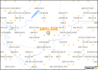 map of Daniłowo