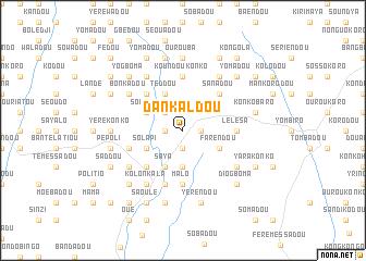 map of Dankaldou