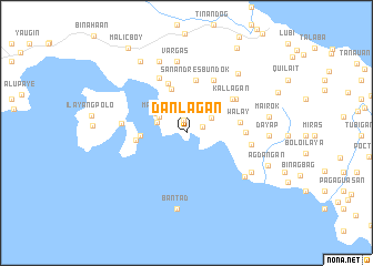 map of Danlagan