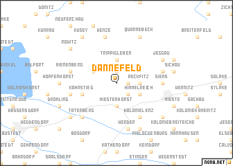 map of Dannefeld
