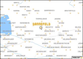 map of Dannefeld
