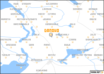 map of Danowo