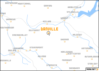 map of Danville