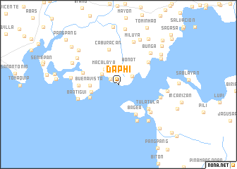 map of Daphi