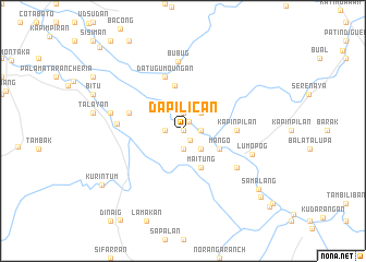 map of Dapilican
