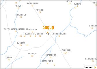 map of Dāqūq