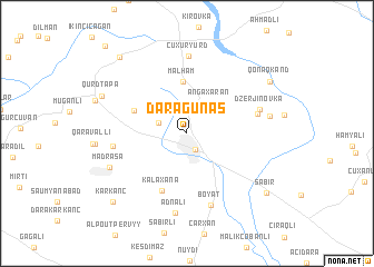 map of Dǝrǝgünǝş