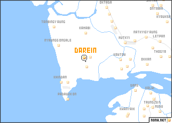map of Darein