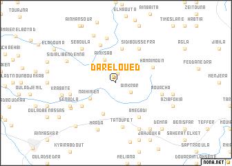 map of Dar el Oued