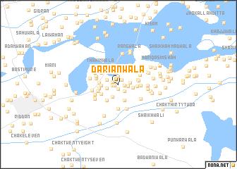 map of Dāriānwāla