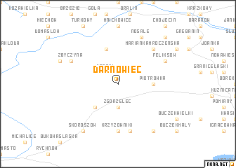 map of Darnowiec