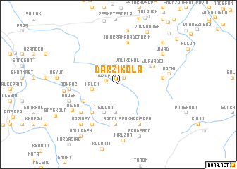 map of Darzī Kolā
