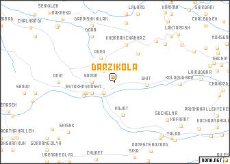 map of Darzī Kolā