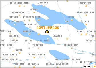 map of Dastjerdak