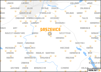 map of Daszewice